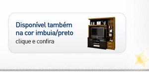 ESTANTE LARA 192X170X50 IMBUIA/PRETO