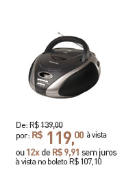 RADIO COM CD SEMP TOSHIBA TR-8001 MP3