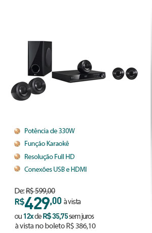 HOME THEATER LG COM DVD DH4220S