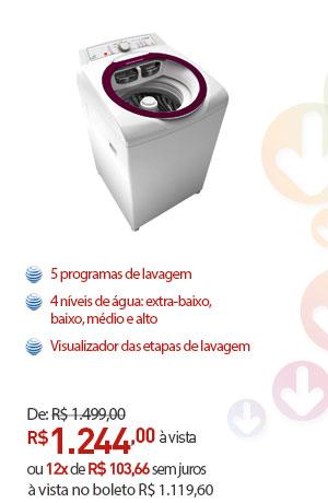 LAVADORA ATIVE BRASTEMP BWG11 11KG BRANCA 220V.
