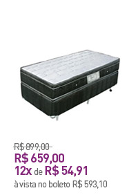Conjunto Box Solteiro Ultra-Flex Dreams Pocket 088x188x69cm Preto/Branco