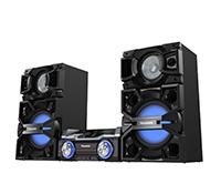 Mini System Panasonic, 2000W, Bluetooth e Amplificador Digital Triplo - SCMAX4000LB