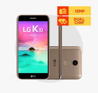 Smartphone LG K10 Novo, Octa-Core, 4G, Dual Chip, Câmera 13MP, Dourado - M250
