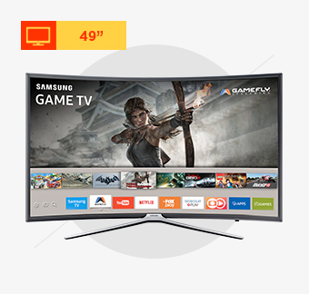 Smart TV Curva LED Samsung 49, Full HD, Wi-Fi, HDMI e USB - UN49K6500AGXZD