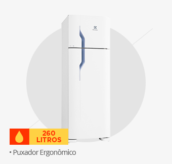 Refrigerador Electrolux Duplex, 260L, Branco - DC35A