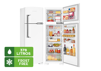 Refrigerador Brastemp Clean, Frost Free, 378 L, Duplex, Branco - BRM42