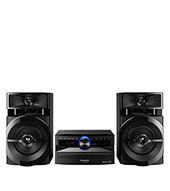 Mini System Panasonic, 250W, Bluetooth, USB e Rádio FM - SCAKX100LBK