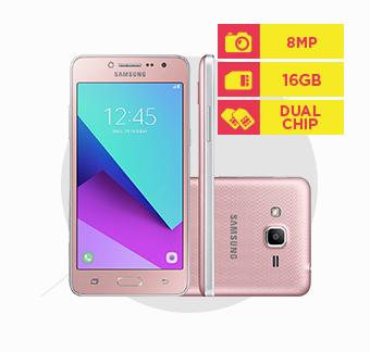 Smartphone Samsung Galaxy J2 Prime TV, Dual Chip, Memória 16GB, Câmera 8MP, Rosa - G532M