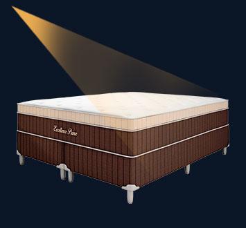 Cama Box Casal King Molas Ensacadas, 193x203cm - Montreal Excellence Pocket
