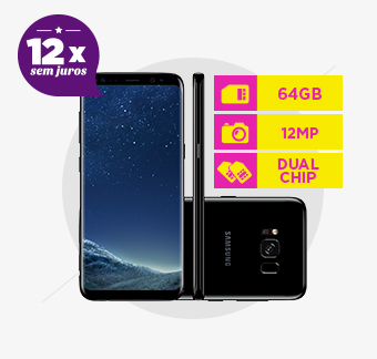 Smartphone Samsung Galaxy S8, 64GB, Câmera 12Mp, Octa-Core, Dual Chip, Preto - G950F