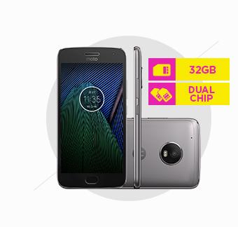 Smartphone Motorola Moto G5 Plus, Octa-Core, TV, Dual Chip, 32GB Platinum - XT1683