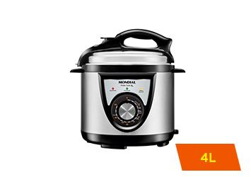 Panela de Pressão Elétrica Mondial Pratic Cook, 4L, 800W - PE-27 - 220V