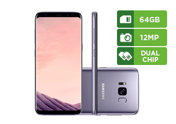 Smartphone Samsung Galaxy S8, 64GB, Câmera 12Mp, Octa-Core, Dual Chip, Ametista - G950F