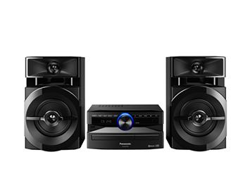 Mini System Panasonic, 250W, Bluetooth, USB e Rádio FM - SCAKX100LBK
