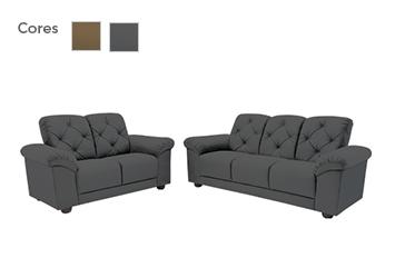 Sofá 2 e 3 Lugares com Tecido Suede - Linoforte Jaguar
