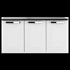 Balcão de Cozinha, 3 Portas, Aço, Com Tampo, Colormaq - Paraty - Branco