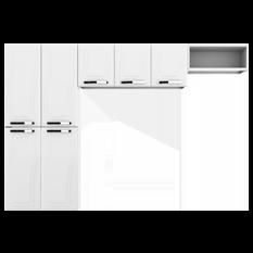 Cozinha de Aço 3 Peças, 7 Portas com Nicho - Colormaq Paraty - Branco