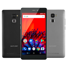 Smartphone Multilaser MS60F 4G Tela 5,5 1GB RAM Dual Chip, Preto / Prata - P9055