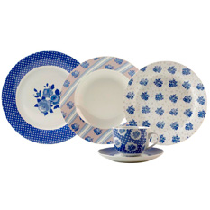 Aparelho de Jantar Casa Ambiente Isadora, 20 Peças, Porcelana - APJA045
