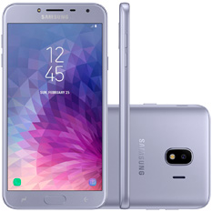 Smartphone Samsung Galaxy J4, Câmera 13 MP, Quad-Core, 32GB, Prata - SM-J400M